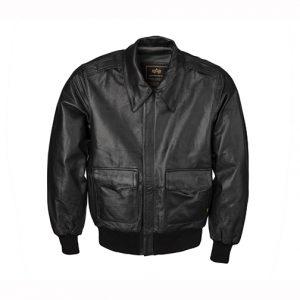Alpha Industries A-2 Goatskin Leather Jacket