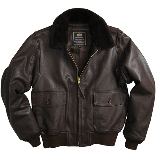 Alpha Industries G-1 Leather Jacket