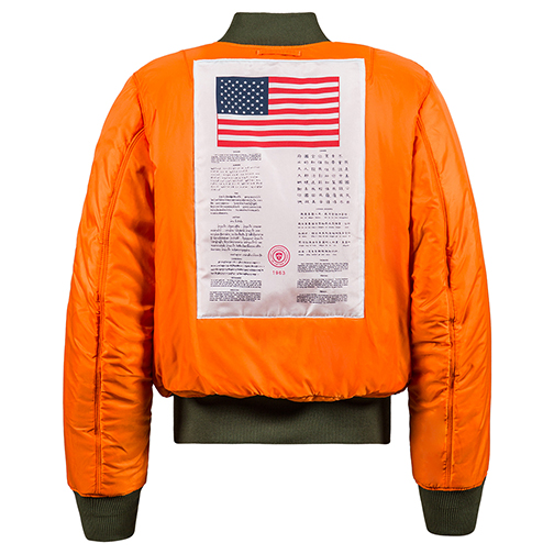 Alpha Industries MA-1 Blood Chit Flight Jacket