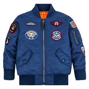 Alpha Industries Youth MA-1 Jacket with Patches