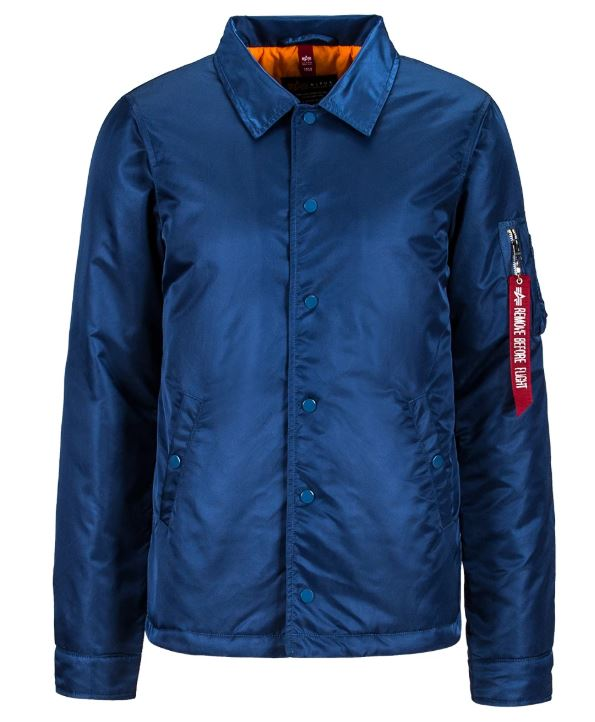 Alpha Coaches Jacket Blue No 9