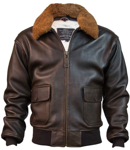 TGG1BR-TopGun-Official-Military-Jacket-Brown-Front