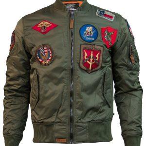 Top Gun Olive MA-1 Bomber