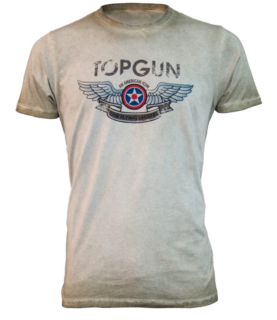 Top Gun Wings Logo Tee Front